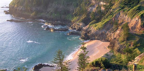 Norfolk Island Beach Coast Line