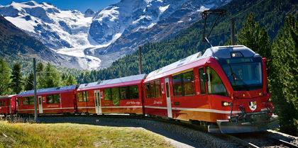 Glaciers to Gondolas Independent, couples and rail holiday experience